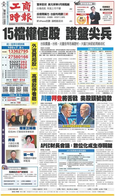 工商時報 2020年9月27日